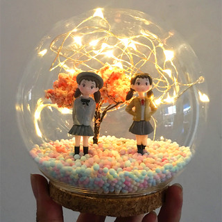 Send girlfriend Jimei little sisters birthday gift creative handmade gift crystal ball diy material package ins night light