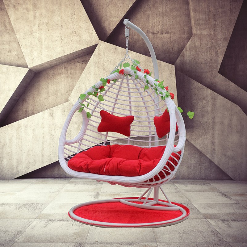 Hanging Chair Swing Balcony Reclining Basket Rattan Chair Rocking Chair  Indoor Hammock Leisure Cradle Garden Couple Adult Nest