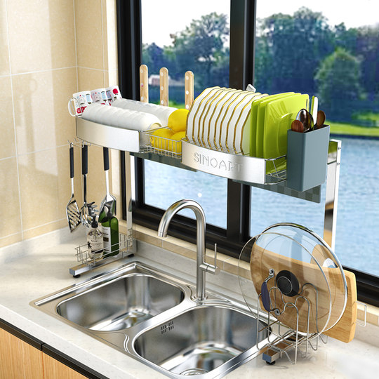 304 stainless steel kitchen rack drain rack sink rack dishes dishes tableware supplies drain rack