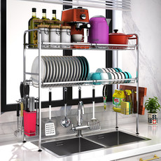 304 Stainless Steel Dish Rack Drain Rack Above Kitchen Sink Kitchen Rack Pool Drying Dishes Tableware Tableware Storage Rack