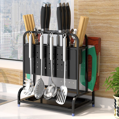 Household stainless steel kitchen knife stands for small simple cutter cutting board cutting plate tool holder storage