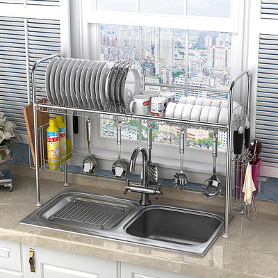 Stainless steel kitchen rack water tank bowl of electric dish drain storage shelf supplies home Daquan drying bowl shelf