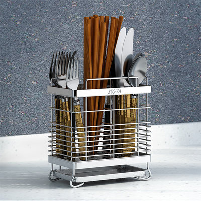 304 stainless steel chopsticks chopsticks hanging tableware Tubilized shelf chopsticks Cage chopsticks kitchen storage rack