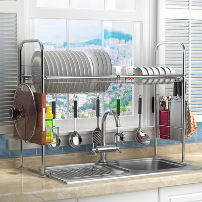 304 stainless steel kitchen rack bowl sink above the pool dish dishwashing dish chopsticks storage drainage