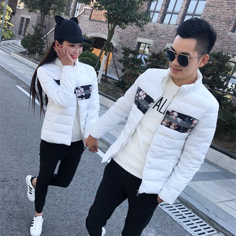 Áo khoác cotton nam 2019 Mới mùa đông Giới trẻ Hàn Quốc Xu hướng áo cotton mùa đông Cặp đôi xuống áo khoác dày - Bông