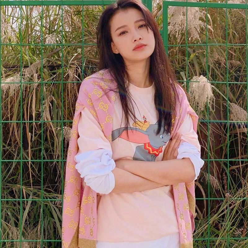 韩国潮牌明星同款ulzzang原宿风小飞象T恤女韩版宽松卡通情侣短袖