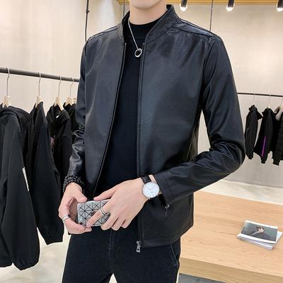 皮衣男士休闲外套韩版潮流修身帅气青年2019新款春秋季机车pu夹克