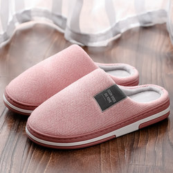2020 new personality Korean cotton slippers female outdoor warm Baotou couples wear trendy cotton shoes ladies slippers
