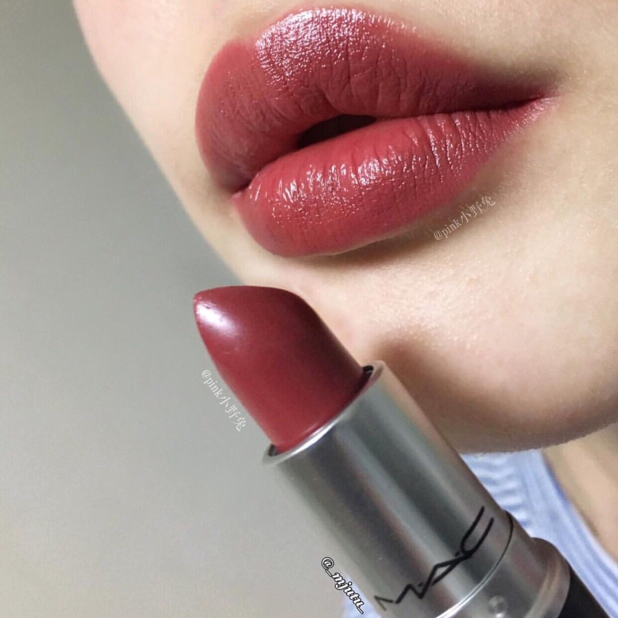 Popolare USD 41.47] ! Duty-free shop mac charm can lipstick chili sheer  RI16