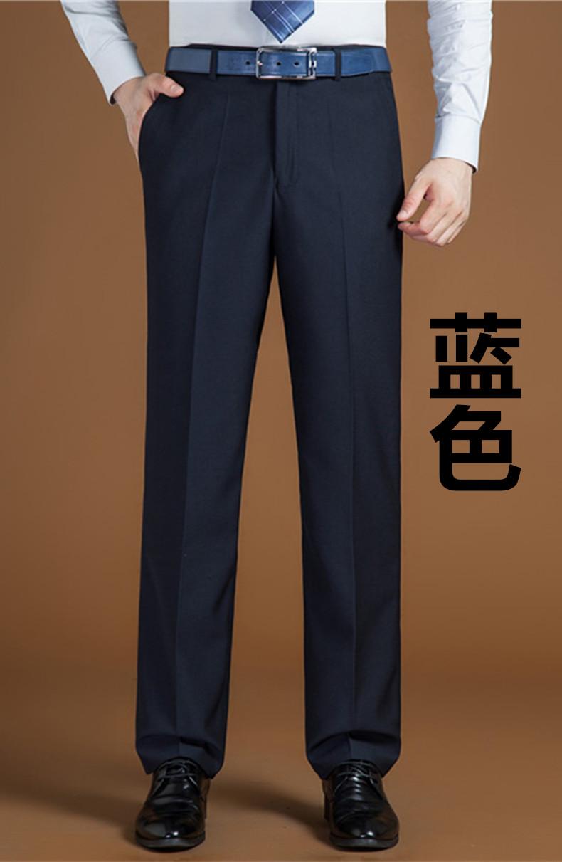 Quần nam mùa hè phần mỏng cộng với phân bón XL kinh doanh ăn mặc thẳng loose loose hot đen cha phù hợp với