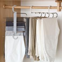 Со складыванием Многофункциональные многослойные брюки стойку шкафа подвесные брюки вешалка бытовые телескопические брюки папка шкаф для хранения полка артефакт