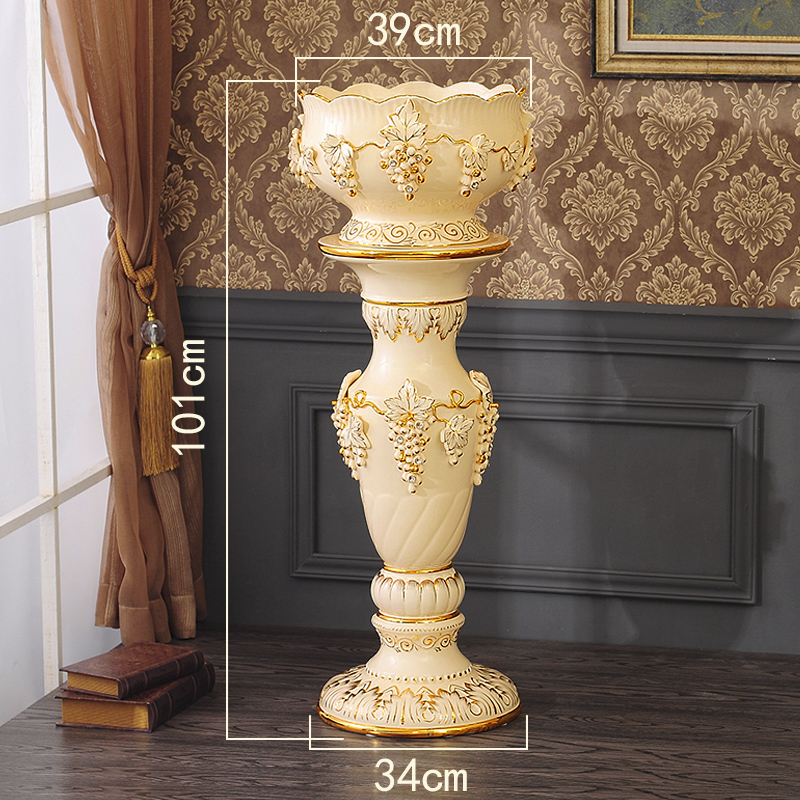 Best Selling Products Home Decor Bedroom Cheap Ceramic: [USD 99.21] Floor Large Vase Ornaments High European