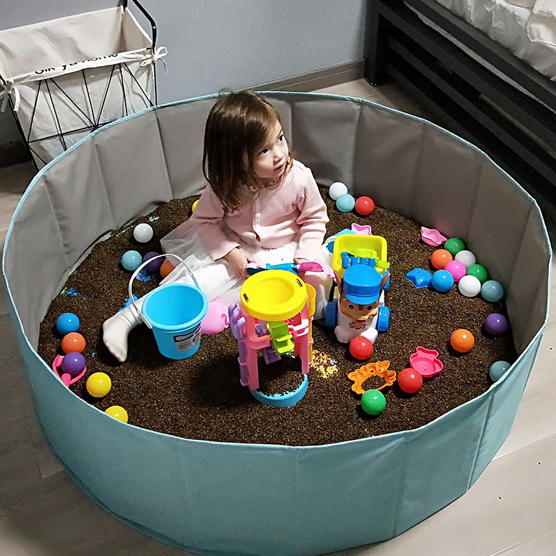 儿童决明子玩具沙池套装沙滩玩具池组宝宝玩沙子沙漏家用室内围栏