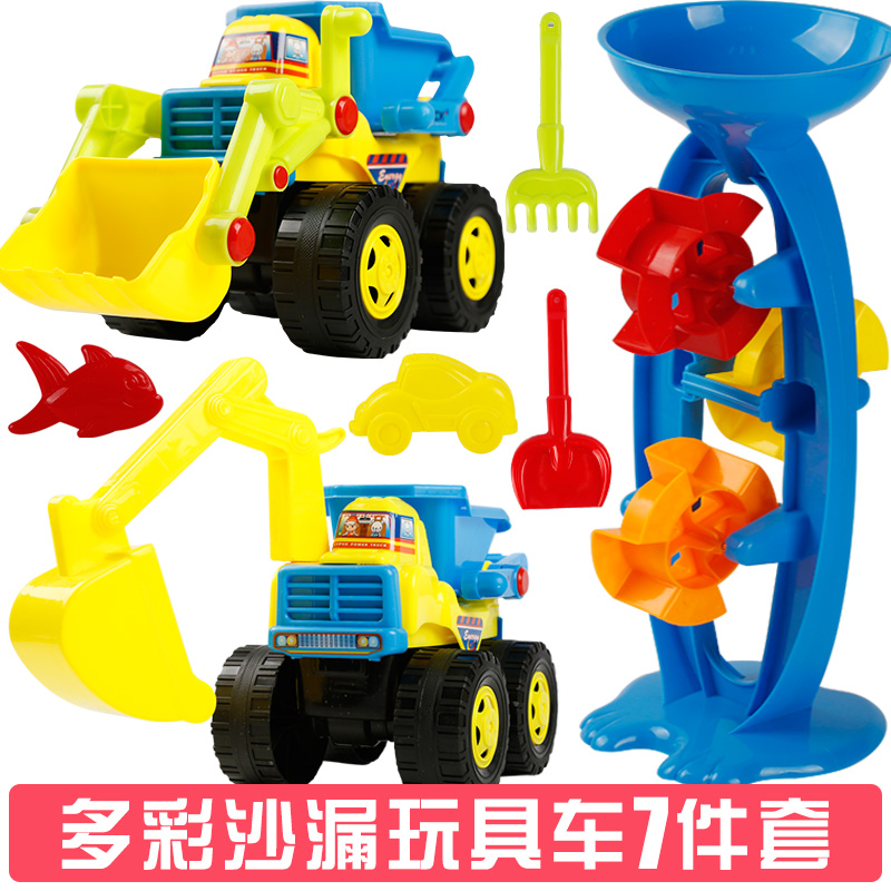 Colorful Hourglass Bulldozer Excavator 7 Sets