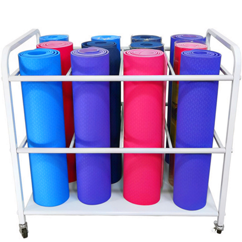 Yoga Mat Storage Layer Frame Foam Shaft Finishing Yoga Room Equipment Rack Yoga Blanket Wolf Tooth Stick Multi Layer Cabinet