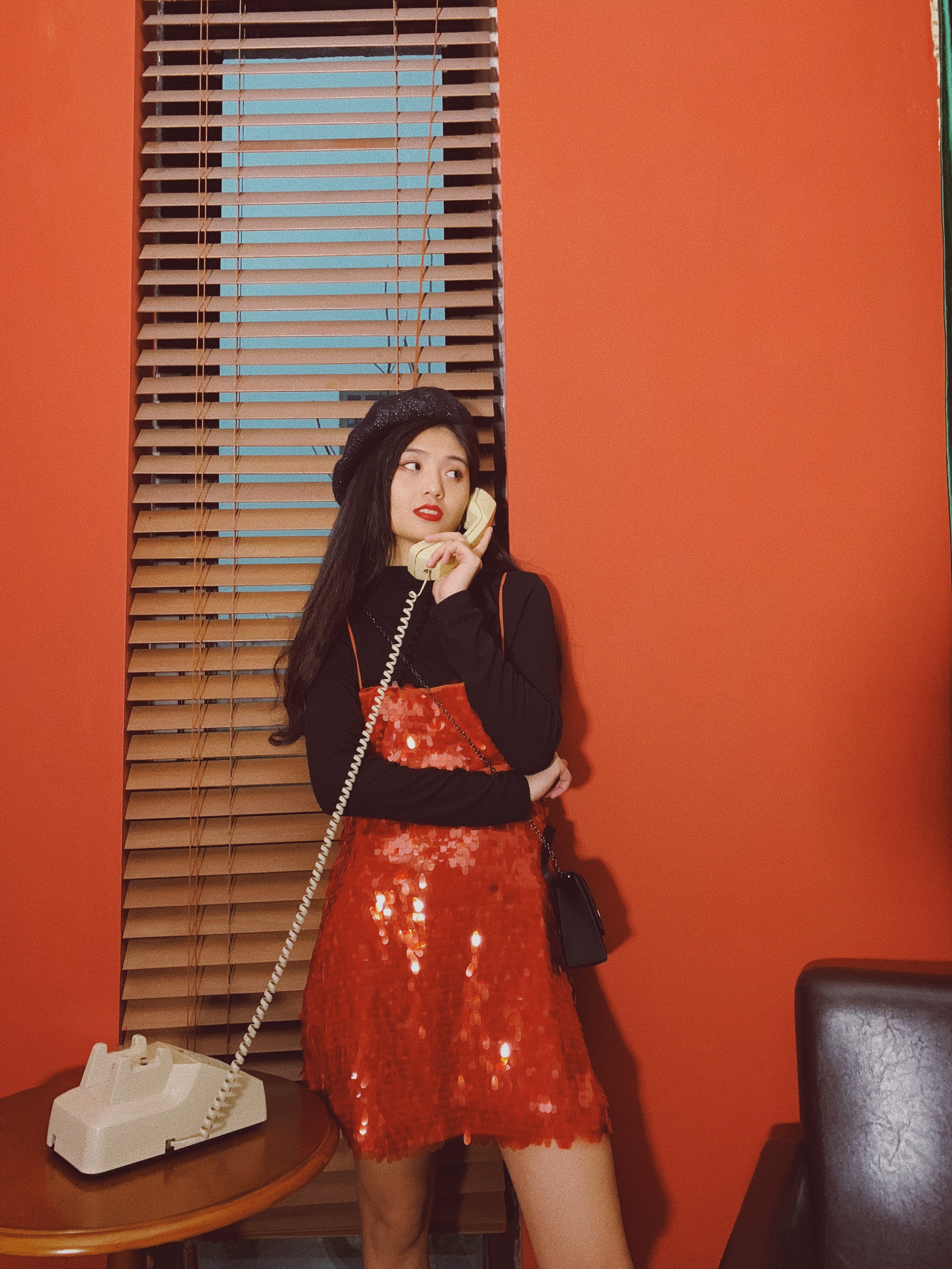 法国小众复古美人鱼亮片吊带裙 派对party新年年会 圣诞裙连衣裙