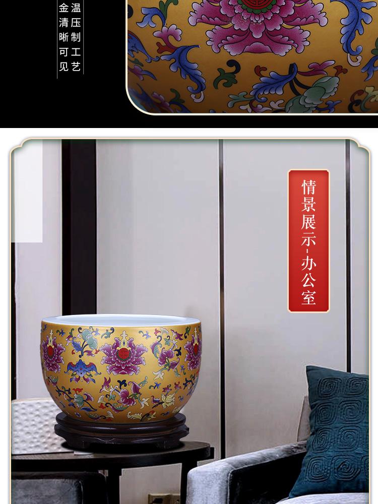 Jingdezhen porcelain ceramic cornucopia tank cylinder tortoise sitting room porch hydroponic household adornment handicraft furnishing articles