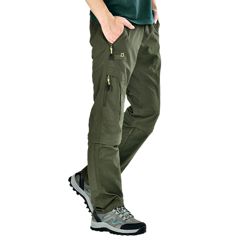 7b327d58d5ad Wolf riding outdoor quick-drying pants men and women trousers summer thin  section assault pants male mountaineering pants male detachable quick-drying