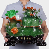 Lucky 貔貅 jade cabbage ornaments store opening gift opening shop gift living room office cashier decoration