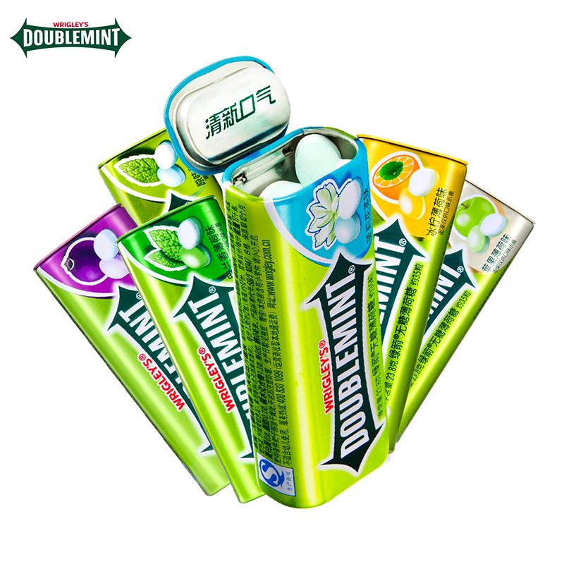 绿箭无糖薄荷糖强劲约35粒多瓶20粒组合口气清新清凉零食接吻糖果