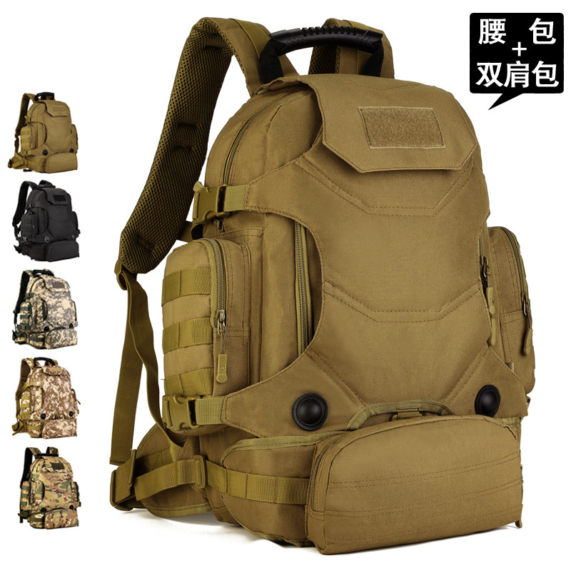 0a0555905aaf ... women waterproof mountaineering bag pockets  Share. 40L outdoor  three-use combination backpack large-capacity tactical shoulder bag army camouflage  men