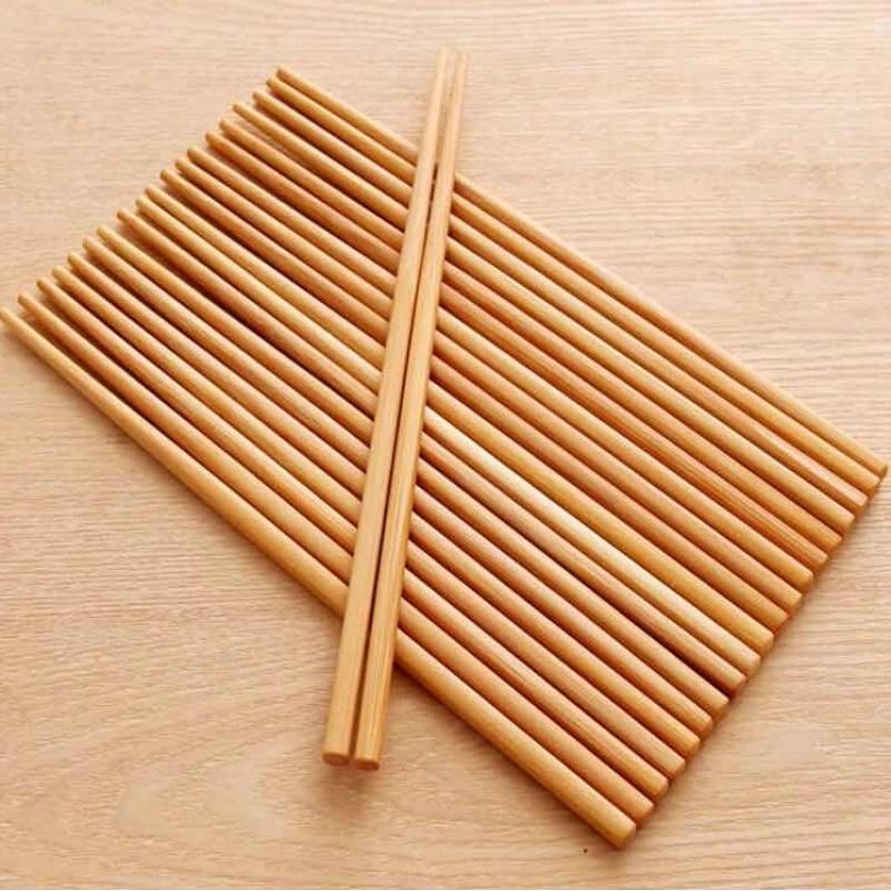 家用天然无漆无蜡竹筷子40双