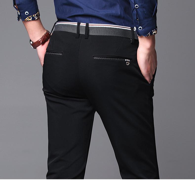 2] nam quần âu nam mùa hè quần mỏng quần của nam giới chân Slim Straight Business Pants 2018