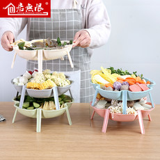 Hotpot restaurant plate, dish, tableware set, household kitchen utensils, beef dishes, commercial plastic plates, creativity