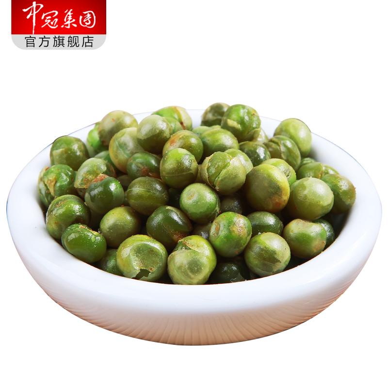 中冠 青豆1080g蒜香小包装豌豆原味豆类零食制品坚果炒货特产小吃