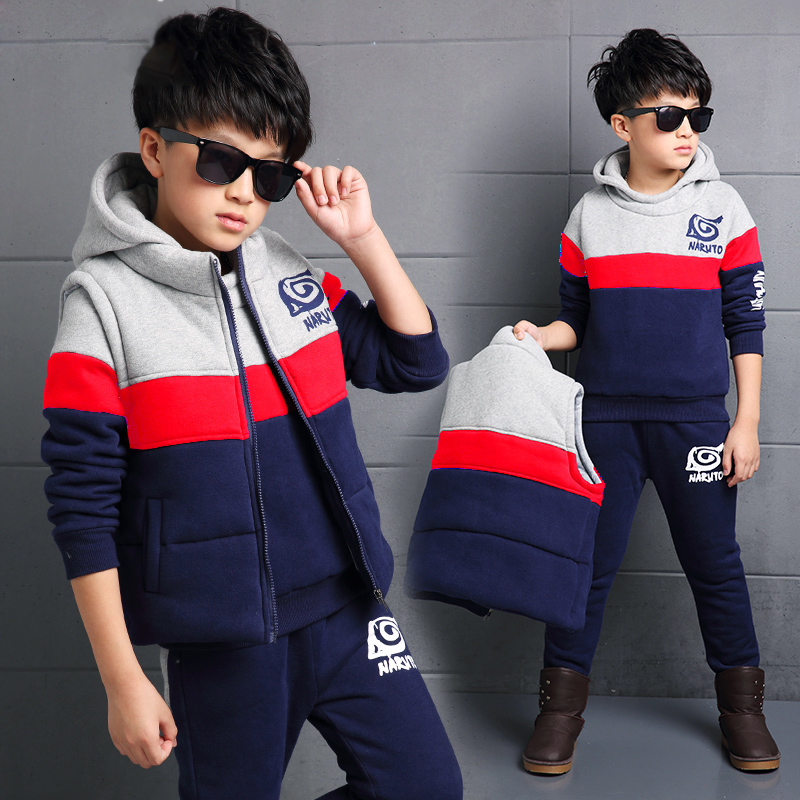 fc31716f132c 5 autumn and winter models 10 boys 9 sweater three-piece suit 11 little boy  6 children s clothing 7 coat 8 Winter 12-year-old 4 fashion