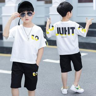 男童短袖套装运动帅气两件套
