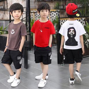 夏季韩版洋气中大男童短袖两件
