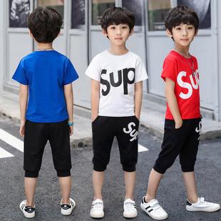 2019男童套装儿童短袖运动韩版