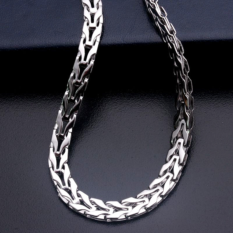 silver necklace sterling in gauge link pendants tags without curb necklaces mm pin jewelry male s us new watches chains men chain