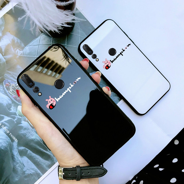 Huawei nova4 mobile phone shell silicone glass hard shell protective cover female creative cute atmosphere male personality youth ultra-thin cartoon high-end all-inclusive new digital simple fashion fun rat year