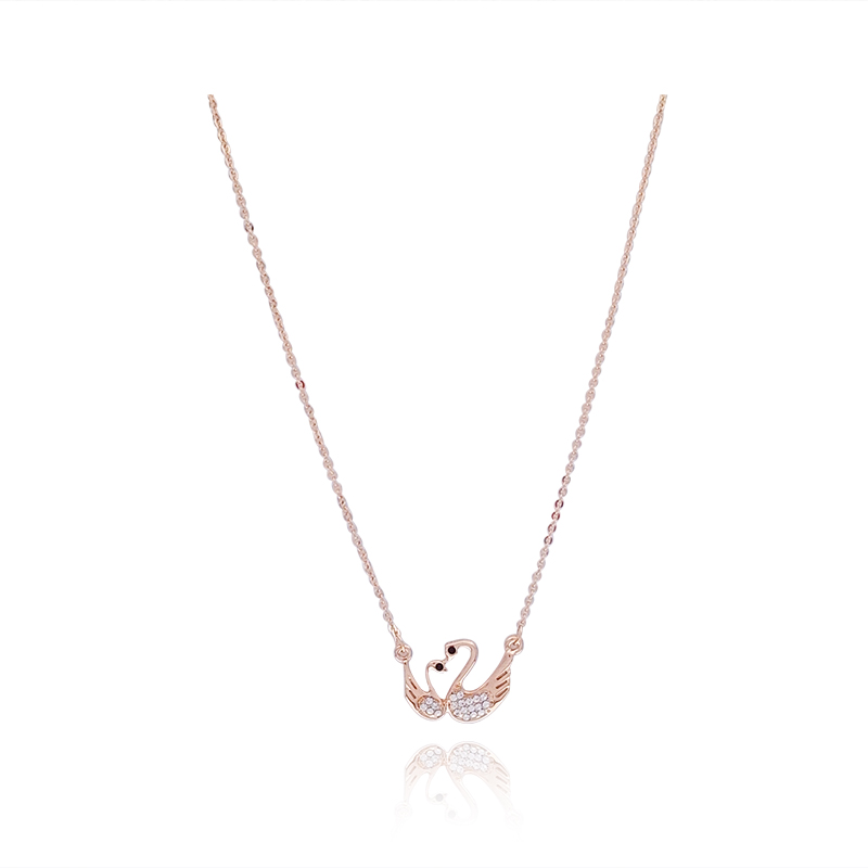 Xin Swan necklace female clavicle chain simple pendant rose gold ...