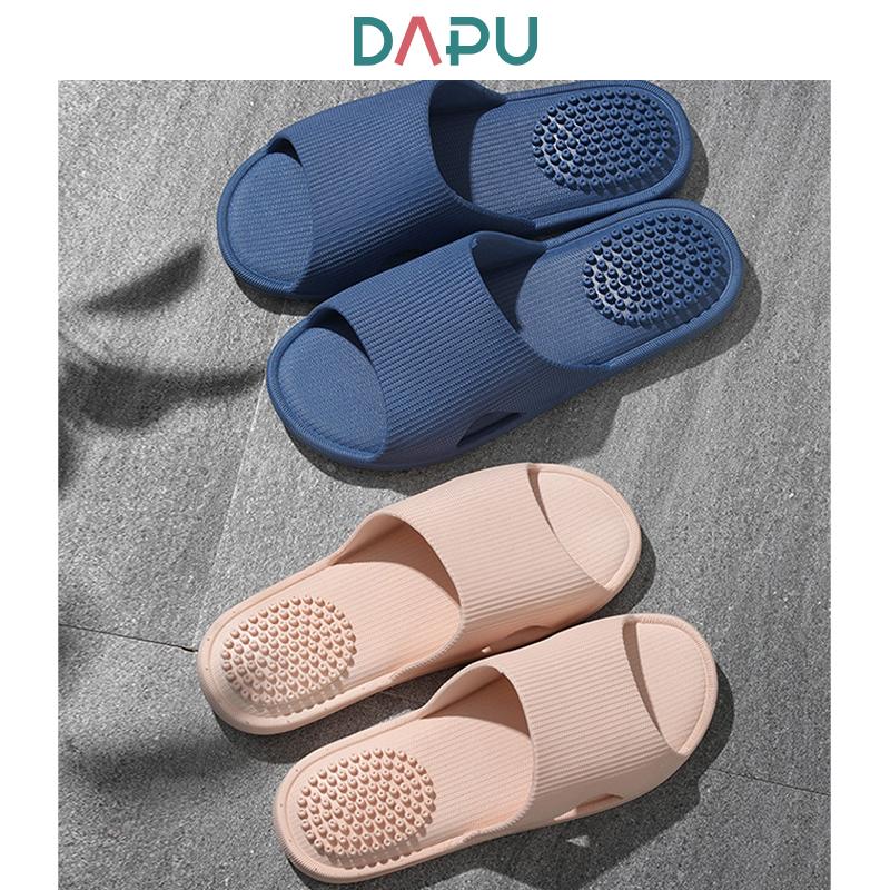 银离子抗菌设计 大朴 2双 男女款 防滑按摩拖鞋