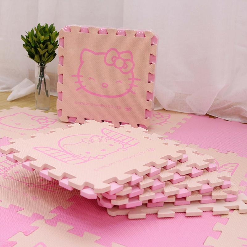 Phim hoạt hình câu đố mat trẻ em bò mat Hello Kitty bọt khâu mat hellokitty30 cm - Thảm sàn