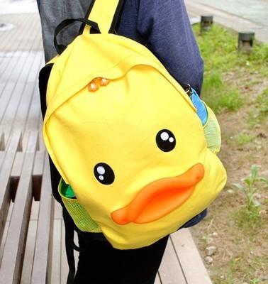 韩版可爱小黄鸭双肩包大黄鸭背包鸭子包包女中卡通v背包书包学生潮