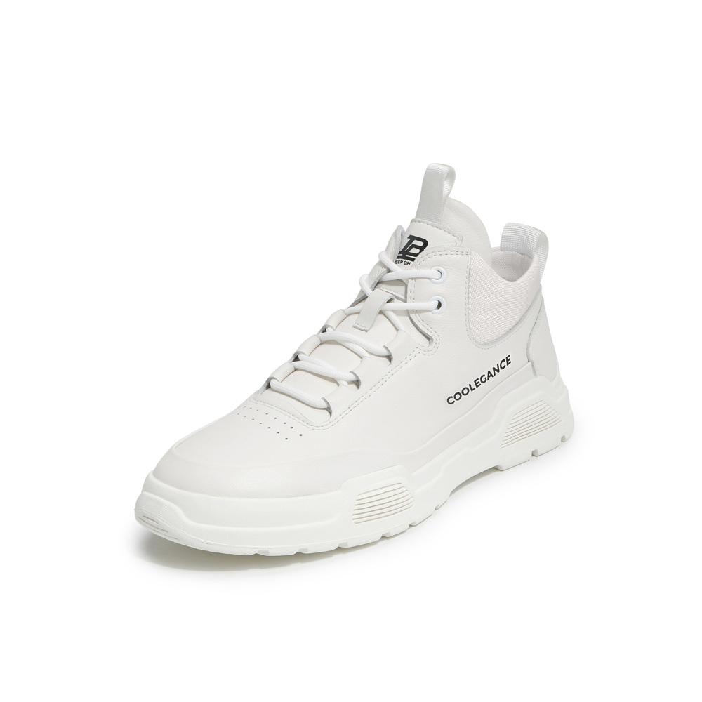 BELLE/百丽2019冬新商场同款牛皮革/纺织品革男靴(绒里)6VJ01DD9