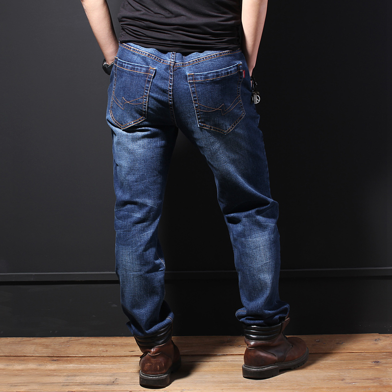 Loose jeans, men's stretch and fat men's plus size men's pants, fat men and fat men's pants, summer thin trousers