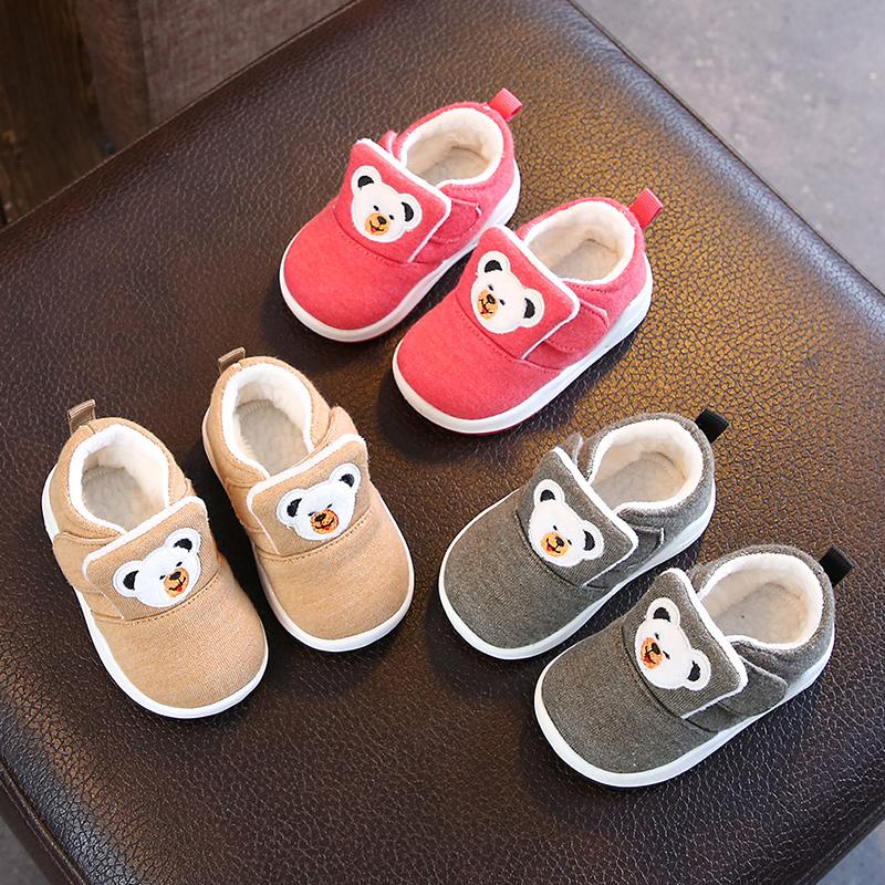 秋冬季宝宝鞋子0-1-3岁防滑软底宝宝学步鞋男婴儿鞋加绒二棉鞋