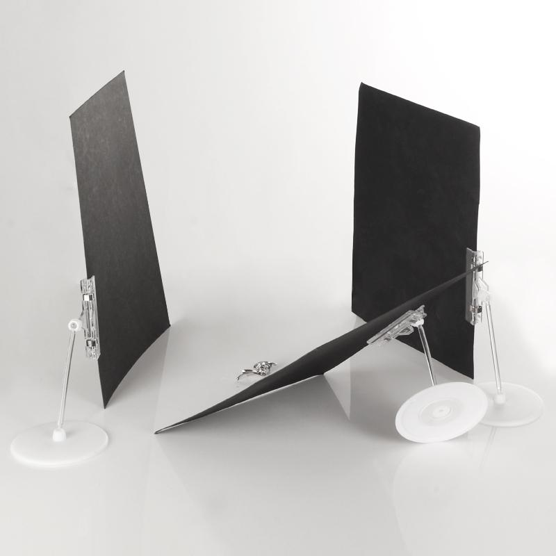 Маленькая скобка для картона фотографии черный белый Золотое и серебряное фотобумага для Вспомогательное вспомогательное оборудование для фоновой съемки