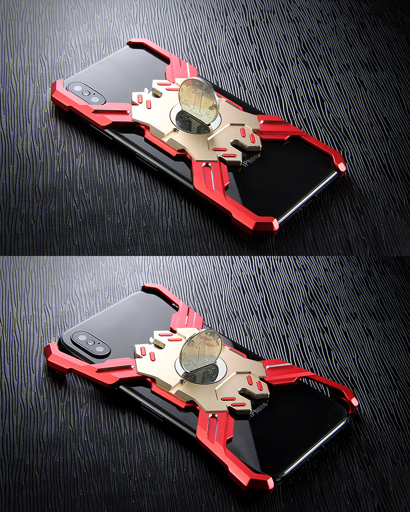 Kylin Armor Heroes Bracket Aluminum Metal Shell Case Cover for Apple iPhone XS Max & iPhone XR & iPhone XS & iPhone X
