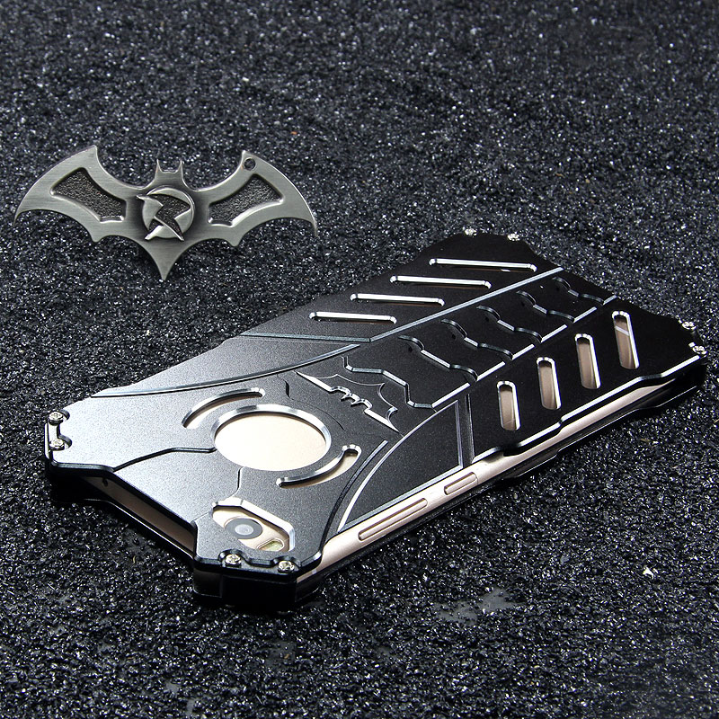 R-Just Batman Shockproof Aluminum Shell Metal Case with Custom Stent for Xiaomi Mi 5s & Xiaomi Mi 5s Plus