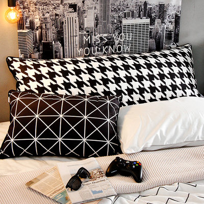Pillow strip pillow bed top pad North Europe pillow big back bed boys sleeping large relying on pillow sleeve detachable