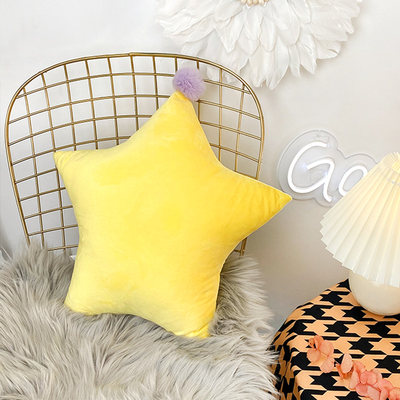 Nordic ins wind creative star pillow princess sofa pillow cute bed back cushion five-star net red pillow