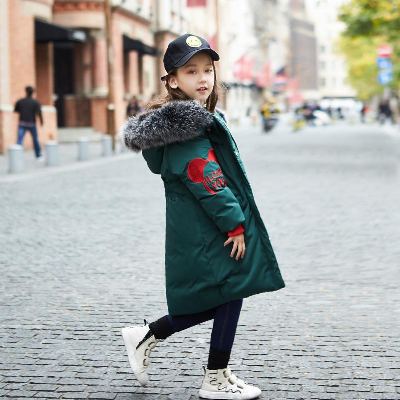 女童棉衣韩版中大童加厚冬装外套