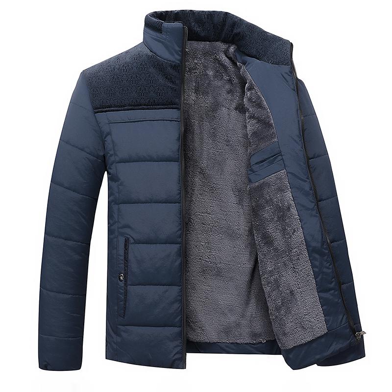 爸爸装冬季加绒加厚2020新款中年男士棉衣外套40棉袄老年50岁棉服