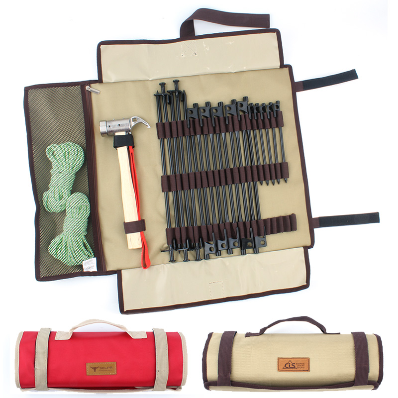 Outdoor camping equipment nail bag camping nail bag storage bag tent ...